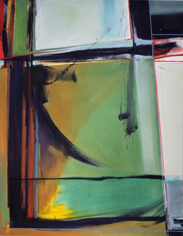 """Dialogue with Modern Perception no. 3 54""""x 42"""" oil on canvas"""