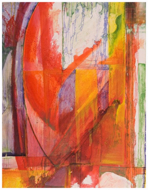 """I Can Let You in a Thousand Times but You Can Only Leave Once, 48"""" by 34"""" Oil and Encaustic Panel"""