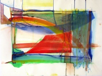 """Miss Guided Children's Play, 22"""" by 30"""" Water and Drawing Media on Paper"""