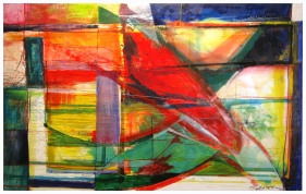 Preambulate, 48x96, Oil and Encaustic on Panel