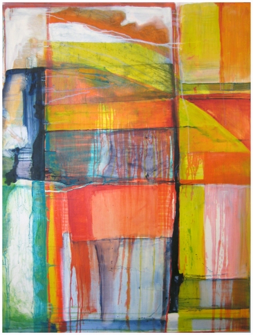 Untitled Commission #1, 36x48, Oil and Encaustic on Panel