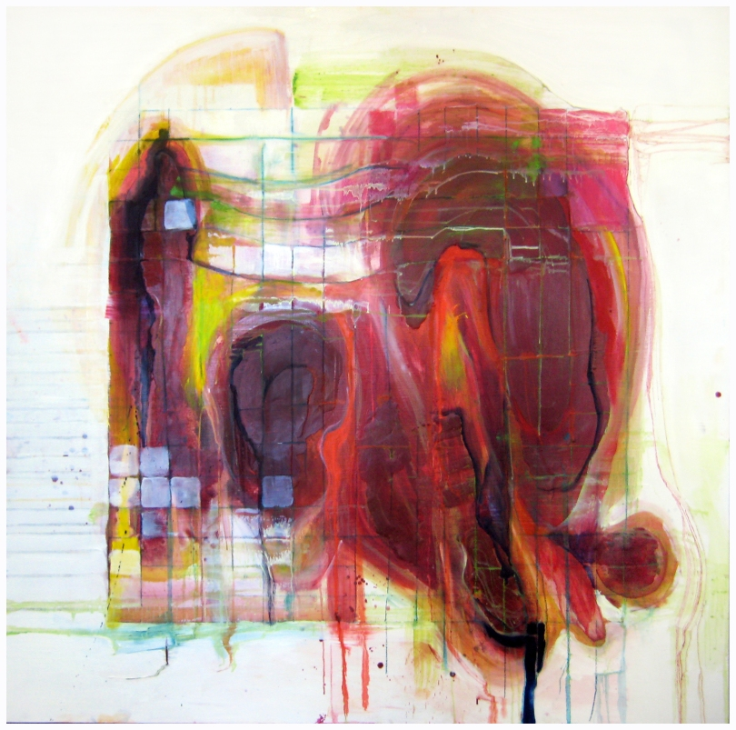 untitled-red-48x48-oil-and-encaustic-on-panel
