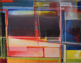 "Dialogue with Modern Perception no. 2 54""x 42"" oil on canvas"
