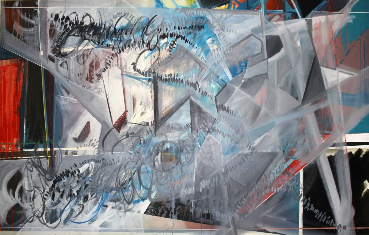 "Phillip Potter ""Loose Cognition of Time #1"", 72""x46"" Oil on Canvas"
