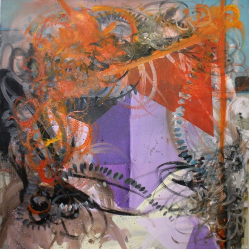"""Phillip Potter """"Loose Cognition of Time #10"""", 24""""x24"""" Oil on Canvas"""