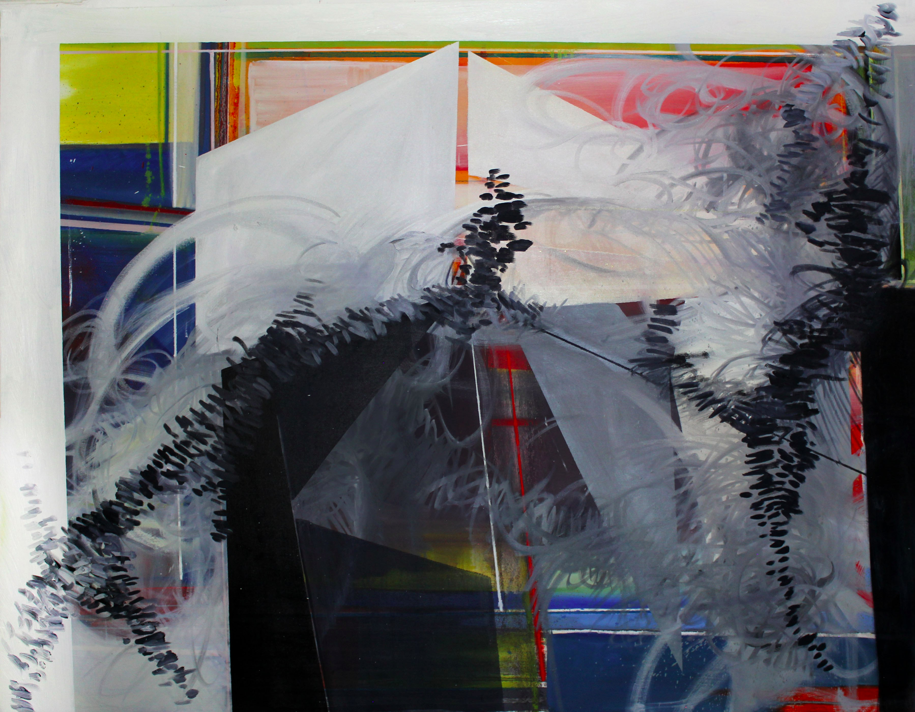 """Phillip Potter """"Loose Cognition of Time #5"""", 42""""x54"""" Oil on Canvas"""