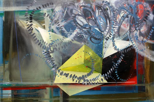 """Phillip Potter """"Loose Cognition of Time #7, 36""""x24"""" Oil on Canvas"""""""