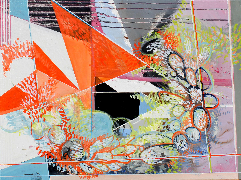 "Phillip Potter ""Causative Phenomena #3"" 30""x40"" oil on canvas"
